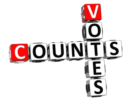 3D Counts Votes Crossword on white background photo