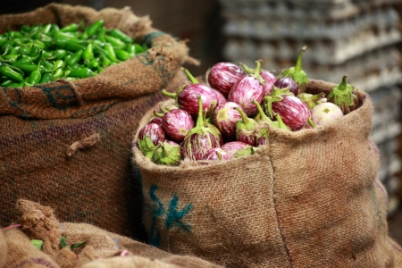 Various vegetables at vegetable market. India photo
