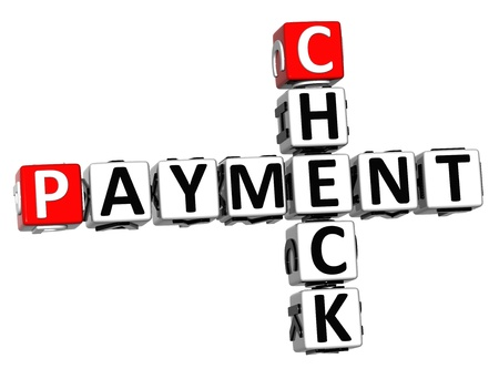 3D Check Payment Crossword on white background photo