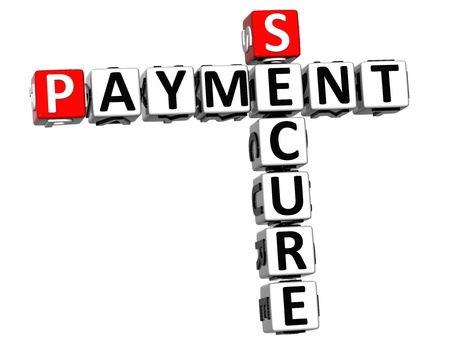 3D Secure Payment Crossword on white background Stock Photo - 16379917