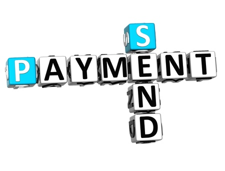 3D Send Payment Crossword on white background photo
