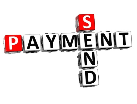 3D Send Payment Crossword on white background Stock Photo - 16379916