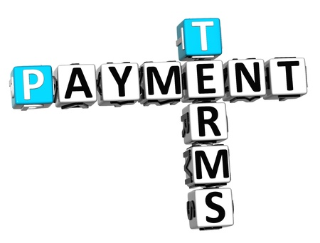 3D Terms Payment Crossword on white background photo