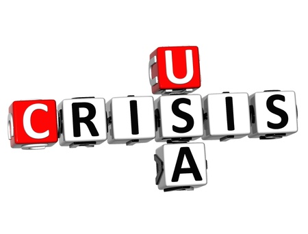 3D USA Crisis Crossword on white background Stock Photo - 16416228