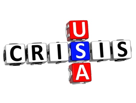3D USA Crisis Crossword on white background Stock Photo - 16416233