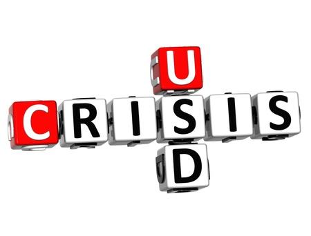 fiasco: 3D USD Crisis Crossword on white background