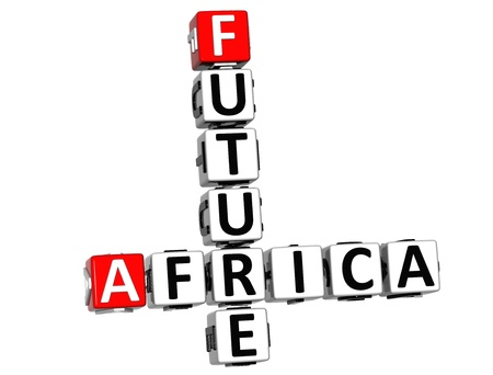 3D Future Africa Crossword on white background photo