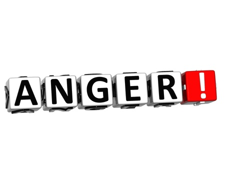 3D Anger Button Click Here Block Text over white background Stock Photo - 16416190