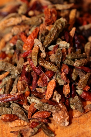 mexican culture: Closeup of red dried chilli background