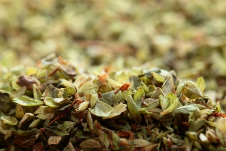 wild marjoram: Dried oregano  as food background