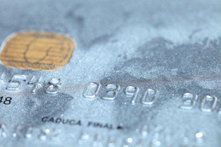 Macro shoot of a credit card. Perfect for background use  photo