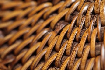 ccloseup: Detail of interlaced rattan fibers in macro