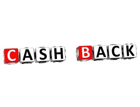 3D Cash Back Crossword on white background photo