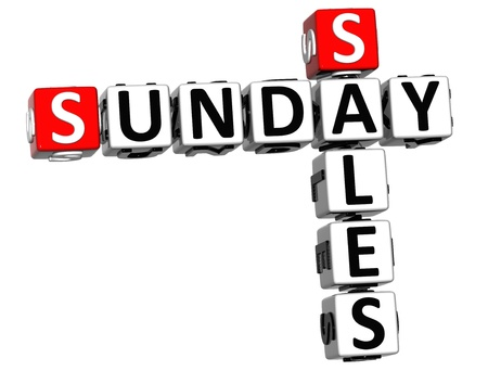 3D Sunday Sales Crossword on white background Stock Photo - 16708677