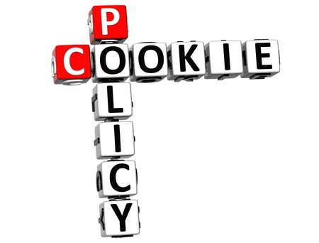 policy: 3D Policy Cookie Crossword on white background