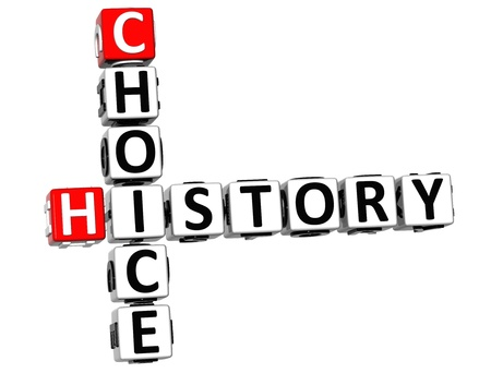 3D Choice History Crossword on white background photo