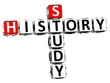 3D Study History Crossword on white background photo
