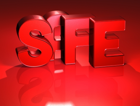 3D Word Safe on red background Stock Photo - 17047900