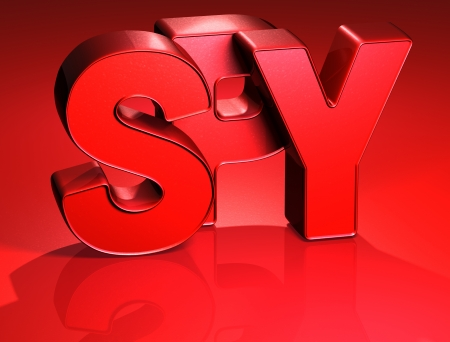 3D Word Spy on red background  Stock Photo - 17047907