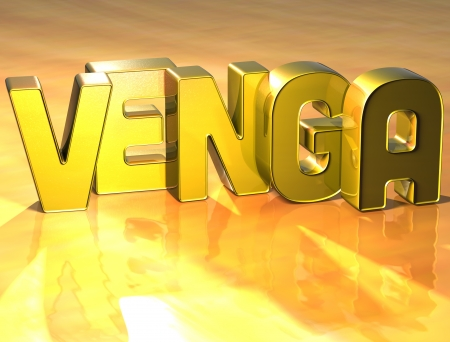 wariety: 3D Word In Spanish Language on yellow background  Stock Photo