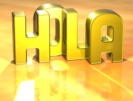 ciao: 3D Word Hello In Spanish Language on yellow background  Stock Photo