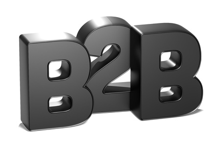 wariety: 3D B2B on white background