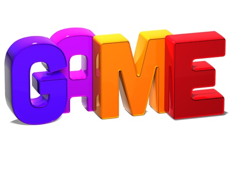 3D Word Game on white background Stock Photo - 17047839