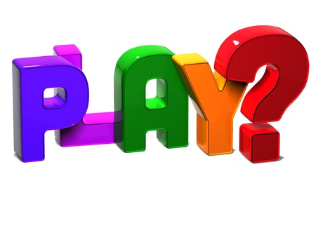 3D Word Play on white background Stock Photo - 17047850
