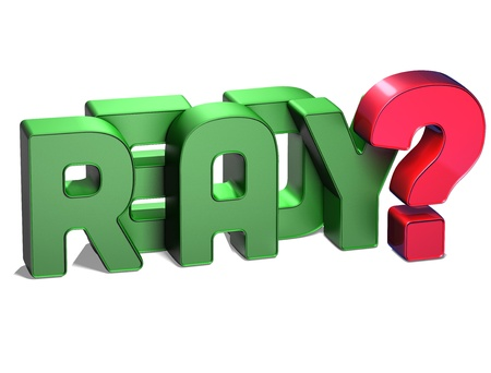 3D Word Ready on white background  photo