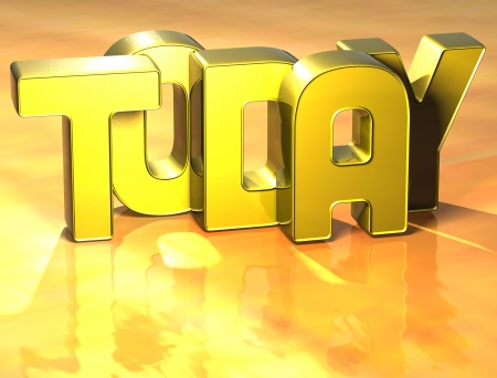3D Word Today on yellow background Stock Photo - 17099967