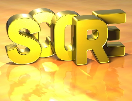 risky innovation: 3D Word Secure on yellow background Stock Photo