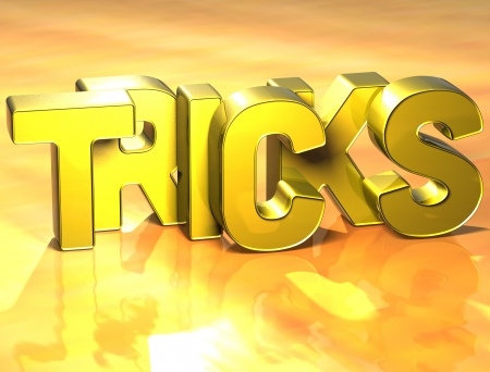diferent: 3D Word Tricks on yellow background