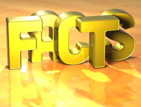 wariety: 3D Word Facts on yellow background Stock Photo