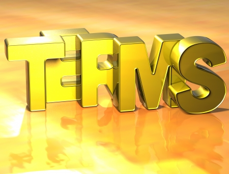 3D Word Terms on yellow background Stock Photo - 17099835