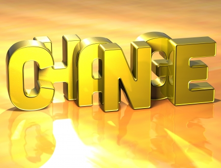 3D Word Change on yellow background Stock Photo - 17099978