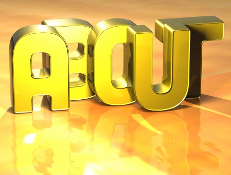 3D Word About on yellow background Stock Photo - 17099971
