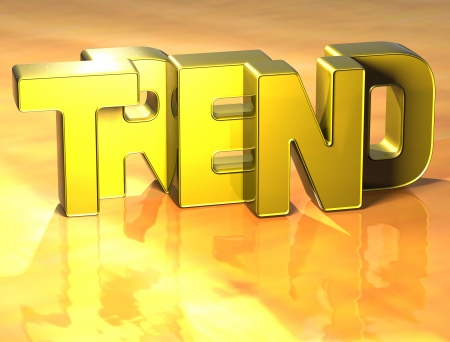 wariety: 3D Word Trend on yellow background Stock Photo