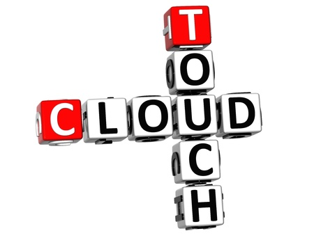 3D Touch Cloud Crossword on white background photo