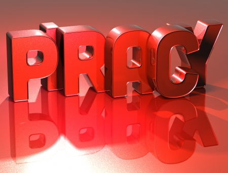 piracy: 3D Word Piracy on red background