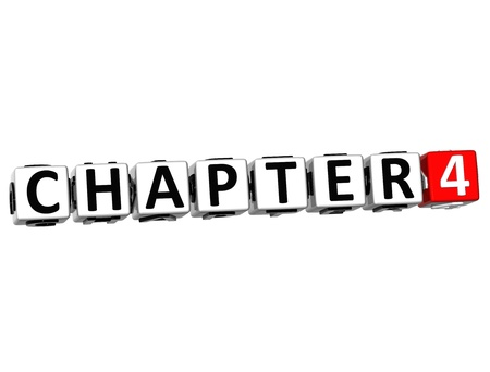 chapter: 3D Chapter Button Click Here Block Text over white background Stock Photo