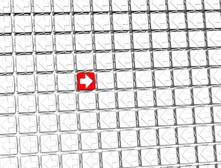 3D Sign Arrow inside arrow blocks Stock Photo - 17122030