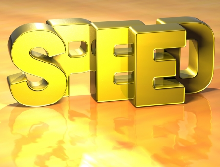 3D Word Speed on yellow background Stock Photo - 17122084
