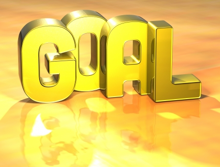 3D Word Goal on yellow background Stock Photo - 17127762