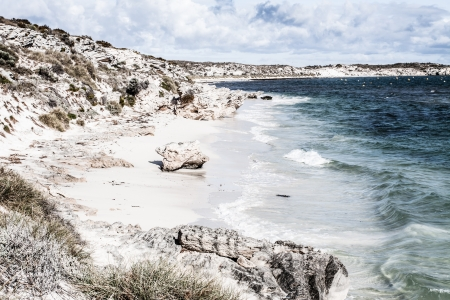 Scenic view over one of the beaches of Rottnest island  ( HDR image ) Stock Photo - 17144925