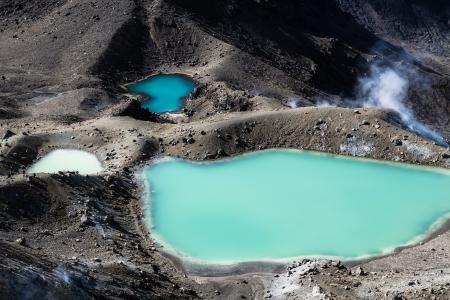 crater highlands: Tongariro National Park, New Zealand ( HDR image ) Stock Photo