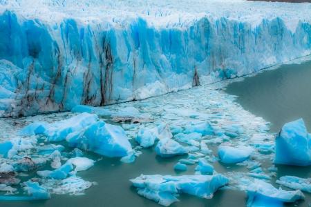 perito: View of the magnificent Perito Moreno glacier, patagonia, Argentina.  ( HDR image )