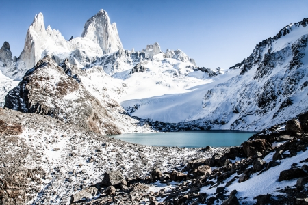 Beautiful nature landscape with Mt. Fitz Roy as seen in Los Glaciares National Park, Patagonia, Argentina  ( HDR image ) Stock Photo - 17147210