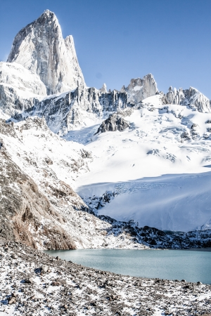 Beautiful nature landscape with Mt. Fitz Roy as seen in Los Glaciares National Park, Patagonia, Argentina  ( HDR image ) Stock Photo - 17144919