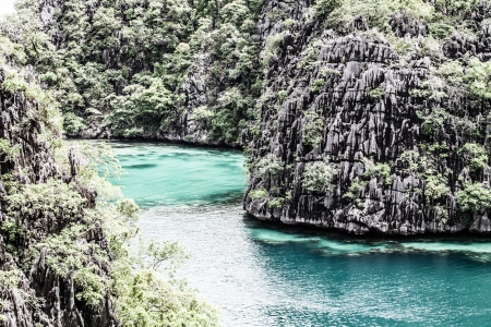 View of the Coron Island, Palawan, Philippines ( HDR image ) photo