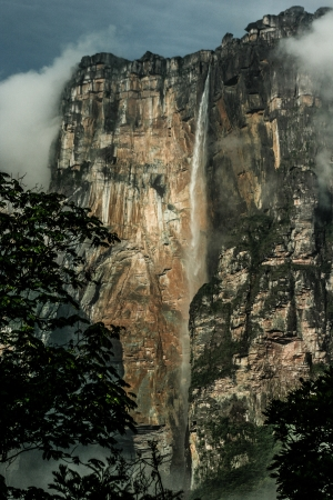Angel Falls ( Salto Angel ) is worlds highest waterfalls (978 m), Venezuela ( HDR image ) photo